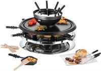 Unold raclette- en fondueset Multi 4-in-1 - 48726, 8 raclettepannetjes, 1300 watt