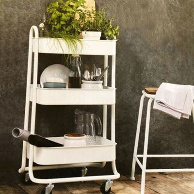 Keuken Bijzet Tafel.Inhouse Lovely Stuff Multifunctionele Trolley Bijzettafel
