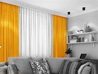 LEMONI Verduisterend 150 x 260 cm Oker geel Kamerhoog kant en klaar gordijn geschikt voor rail en roede systemen luxe zonwerende gordijnen lichtdicht