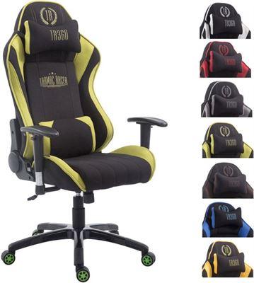 Bureaustoel Met Voetsteun.Clp Shift V2 Racing Bureaustoel Stof Zwart Groen Zonder