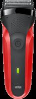 Braun Series 3 300s Oplaadbaar Elektrisch Scheerapparaat, Rood