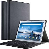 Just in Case Premium Bluetooth Lenovo Tab P10 Toetsenbord Hoes Zwart AZERTY