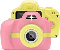 BTH Kindercamera Kids Speel Kinder Camera HD Video Foto Roze / Geel