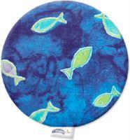 Theraline Kersenpitkussen Design: rond, visse - Blauw