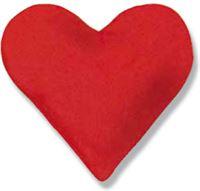 Theraline Kersenpitkussen Design: hart, groot 26 x 27 cm - Rood