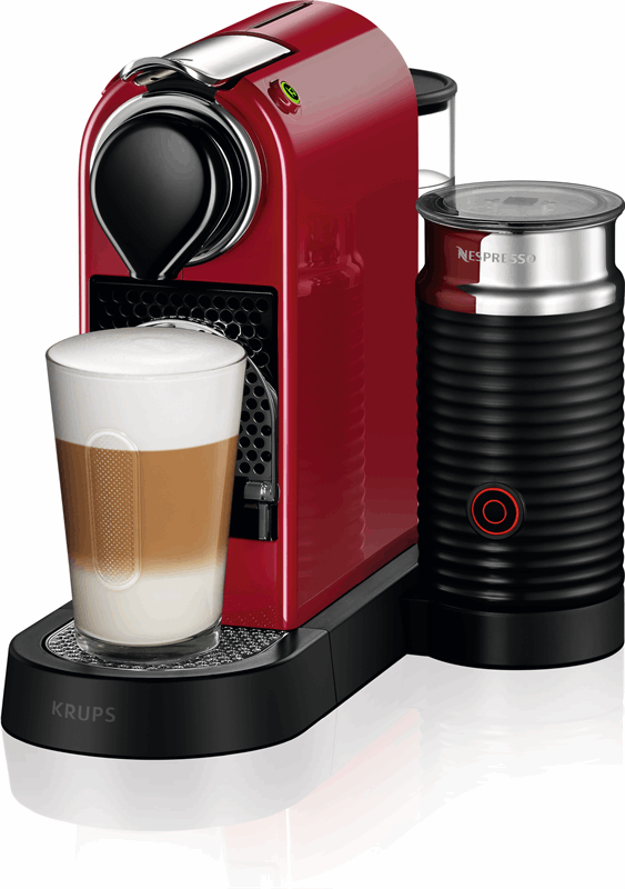 Krups Nespresso CitiZ&Milk espressomachine - Cherry Red XN7615 rood