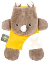 Nattou Buddiezzz - Knuffeldoek met gelpack, neushoorn, knuffeldoek met gelpack - Geel
