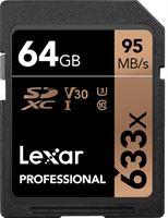 Lexar Professional 633x SDHC 64GB - 95 MB/s UHS-I let op: Deze SD kaart is niet geschikt voor smartphones en/of actioncams