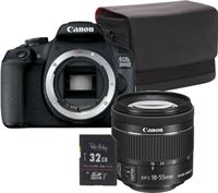Canon EOS 2000D + EF-S 18-55MM IS II + SB100 tas + 32GB SDHC