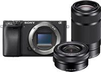 Sony A6400 body zwart + 16-50MM + 55-210MM