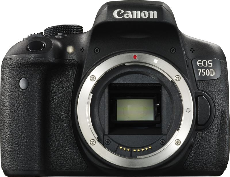 Canon EOS 750D + 18-55mm iS STM + 55-250mm iS STM zwart