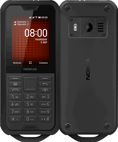 Nokia 800 Tough 4 GB / zwart / (dualsim)
