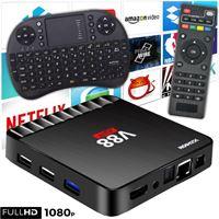 Stuff Certified V88 4K TV Box Mediaspeler Android Kodi - 1GB RAM - 8GB Opslagruimte + Draadloos Toetsenbord