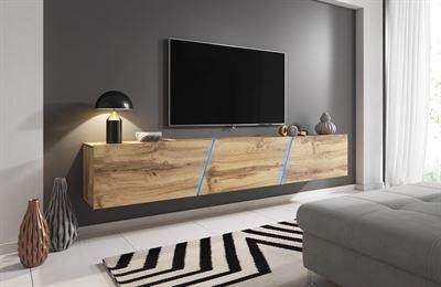 Zwevende Tv Kast Kopen.Perfectmatras Zwevend Tv Meubel Eiken 240 Cm Kast Kopen