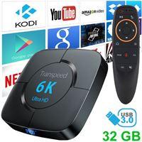 Stuff Certified Transpeed 6K Ultra HD TV Box Mediaspeler Android Kodi - 4GB RAM - 32GB Opslagruimte