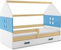 Perfecthomeshop Kinderbed Huisje Hout & Blauw