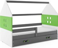 Perfecthomeshop Kinderbed Huisje Grijs & Groen