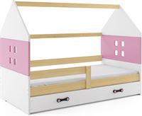 Perfecthomeshop Kinderbed Huisje Hout & Roze