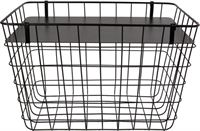 Dulaire Metalen Mand Bijzettafel Rechthoek Zwart 45x53 cm