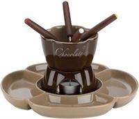 Kela Chocolade fondue 7-delig Fiore, Bruin -