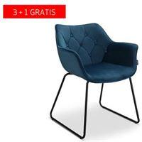Lanterfant Fauteuil Milou – Fluweel - Kuipstoel – Royal Blue