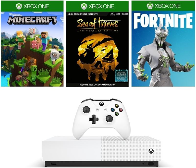 Microsoft Xbox One S 1TB / wit / Sea of Thieves, Minecraft, Fortnite Battle Royale