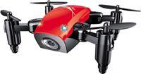 Stuff Certified S9W Mini RC Pocket Drone Quadcopter Speelgoed met Gyro Stabilistatie Rood