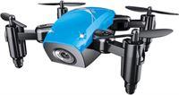 Stuff Certified S9W Mini RC Pocket Drone Quadcopter Speelgoed met Gyro Stabilistatie Blauw