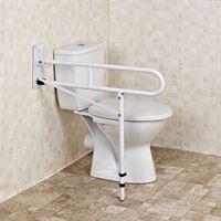 HomeCare Innovation BV Toiletbeugel opklapbaar met steunvoet - Toiletsteun wit (Verstelbaar)