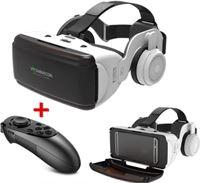 VR SHINECON VR Virtual Reality 3D Bril 90° Met Bluetooth Afstandsbediending voor Smartphones
