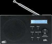 ok. Draagbaare DAB+ radio Bluetooth Zwart