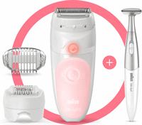 Braun Silk-épil 5 Wet&Dry Silk-épil 5 5-820 Epilator Voor Vrouwen Voor Zachte Ontharing, Wit/Roze