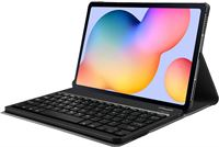 Just in Case Samsung Galaxy Tab S6 Lite Premium Toetsenbord Hoes Zwart AZERTY