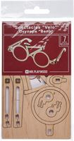 Mr. PlayWood Houten Bril Fiets - Modelbouw - 140x150x70mm