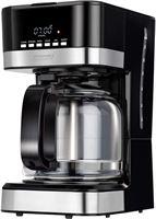 Mpm MKW-05 Koffiezetapparaat, programmeerbaar, automatisch, koffiezetapparaat, filtercapaciteit 15 kopjes, 1,8 liter, LCD-display, warmhoudfunctie, 950 W, zwart roestvrij staal