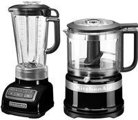 KitchenAid »5KSB1585EOB und Mini Zerkleinerer 5KFC3516« blender