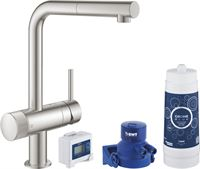 GROHE Blue Pure Minta Duo Starter Set 21,7x25x32,8 cm Supersteel
