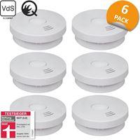 ELRO FS9010 Rookmelder met 10 jaar batterij – Q-Label, VDS en StiWa testwinnaar - 6 stuks