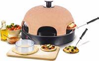 Emerio pizzaoven pre back voor 8 personen, terracotta/zwart