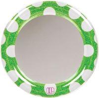 LockerLookz mirror green polka dot