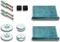 SafecliX Spiegelbevestiging drukknopset 08 - Spiegelklem