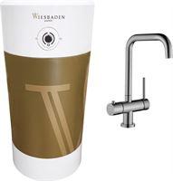 Wiesbaden Calda kokendwaterkraan met 8 liter boiler inclusief Piazza kraan RVS 24.3753