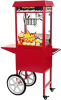 Royal Catering Popcornmachine met kar - Rood