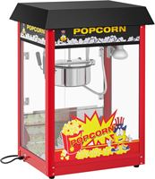 Royal Catering Popcornmachine - 120 s werkcyclus - zwart dak