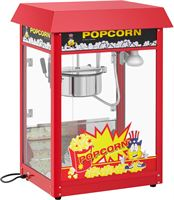 Royal Catering Popcornmachine - 120 s werkcyclus - rood dak