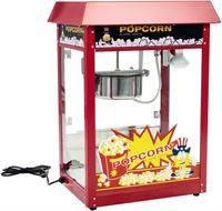 Royal Catering Popcornmachine - Rood dak