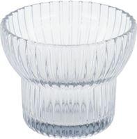 HEMA Waxinelichthouder Ø8x6.5 - Glas Grijs (grijs)