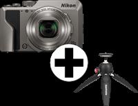 Nikon Coolpix A1000 S + Manfrotto Tripod