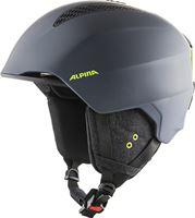Alpina Unisex – volwassenen GRAND skihelm, charcoal-neon mat, 61-64
