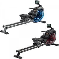 Cardiostrong Roeitrainer Baltic Rower Pro Blauwe tank, grijs frame